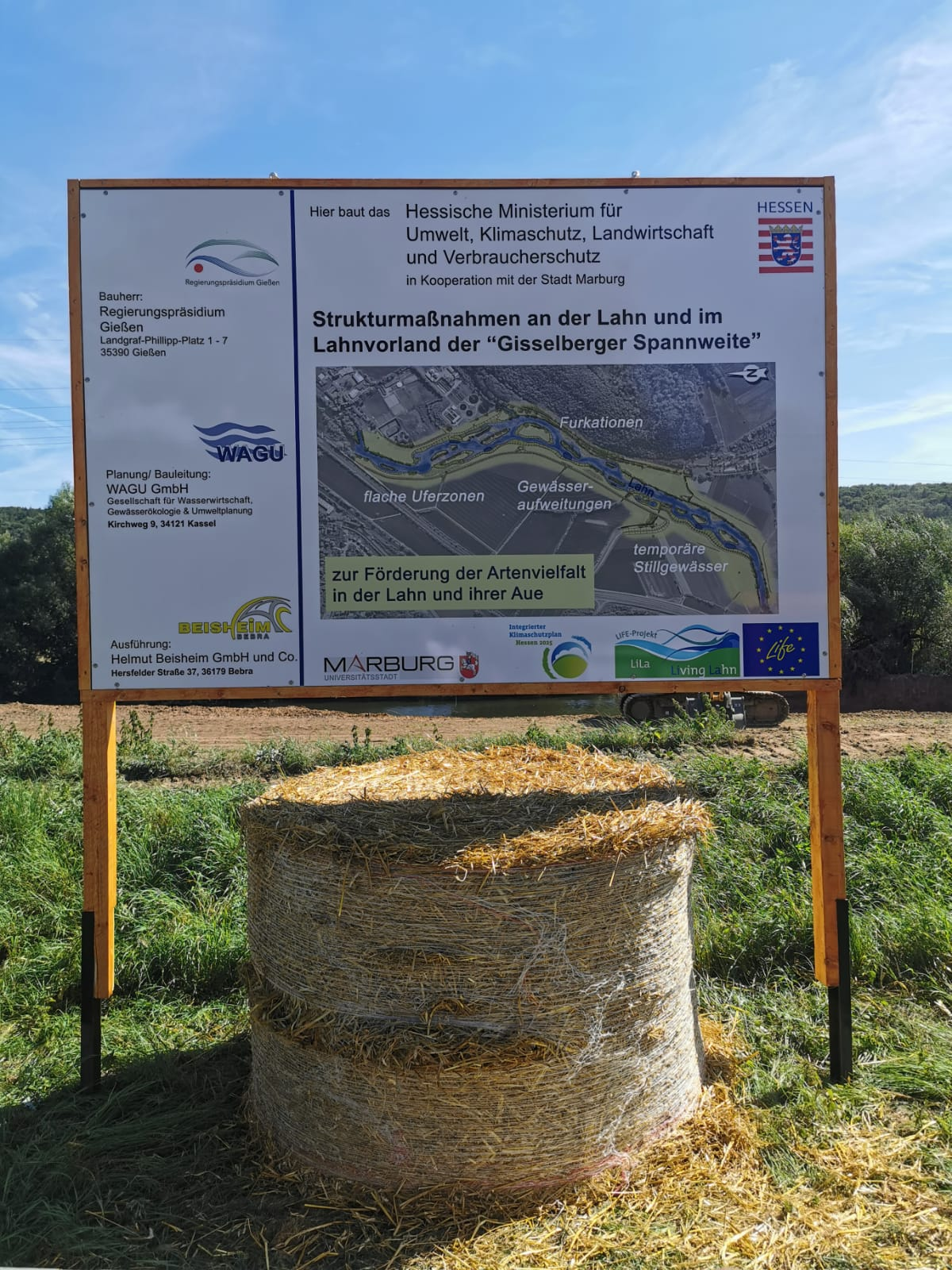 Anlegen eines naturnahen, verzweigten Lahnabschnitts in der Gemarkung Gisselberg, Marburg